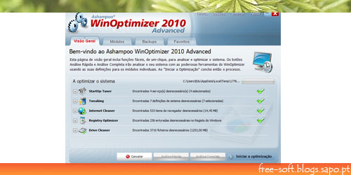 Ashampoo WinOptimizer 2010 Advanced - Tune-up