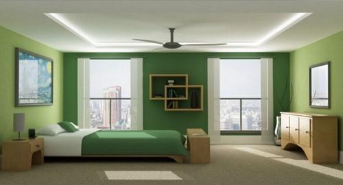 Quartos em tom verde Decoração e Ideias ~ Quarto Pintado De Verde Musgo