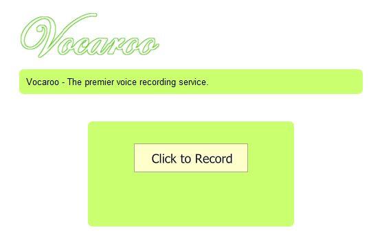 vocaroo enviar e-mail gravação de voz