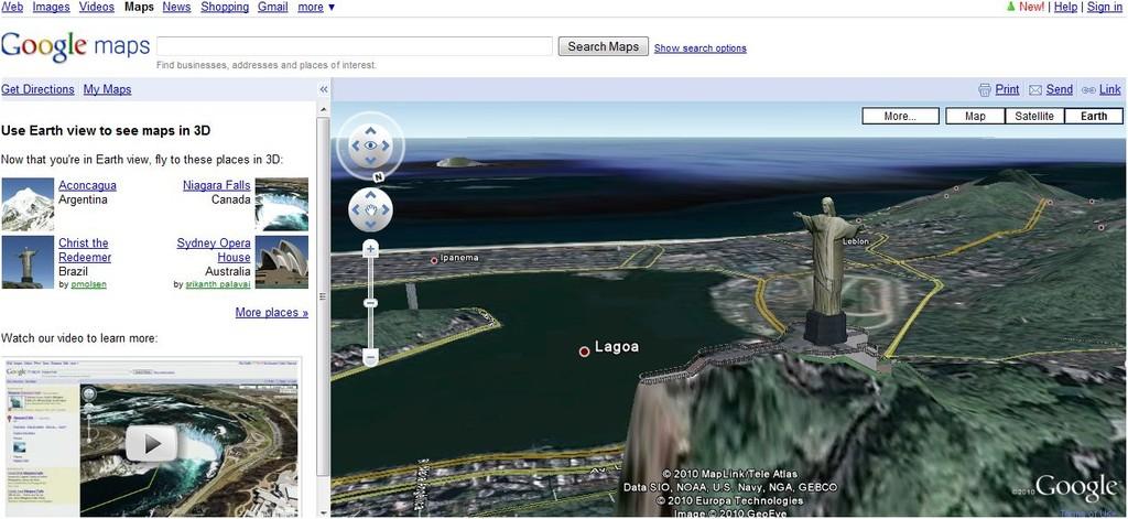 mapas google 3d