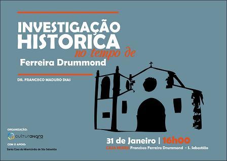 Maduro Dias fala sobre Ferreira Drummond. Amanhã, em São Sebastião...