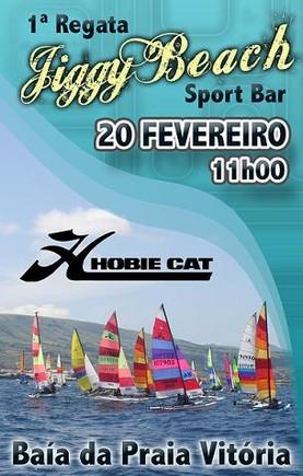 """Bem, quase daqui a bocado, há regata de """"Hobie Cat"""" na baía da Praia da Vitória..."""