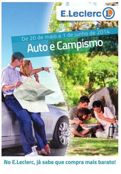 Antevisão folheto E-LECLERC de 20 maio a 1 junho - Auto e Campismo