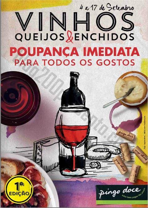 Novo Folheto PINGO DOCE Vinhos, queijos e enchidos até 17 setembro