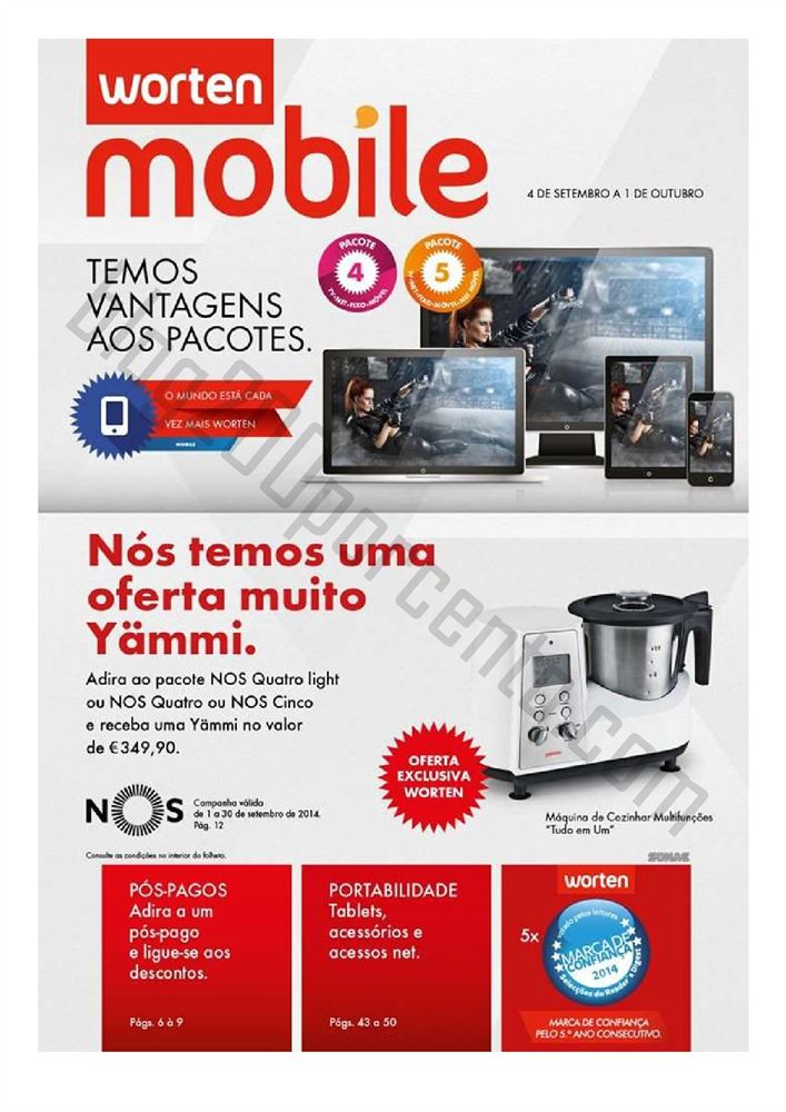 Novo Folheto WORTEN MOBILE Promoções de 4 setembro a 1 outubro