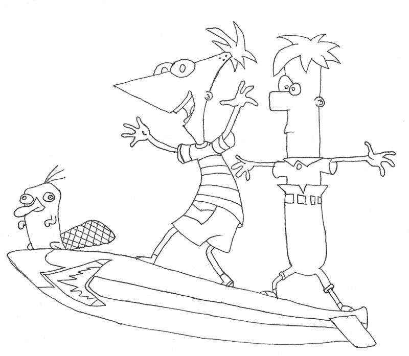 Desenhos, Phineas Y Ferb Para Imprimir