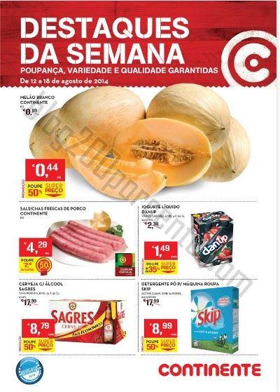 Novo Folheto CONTINENTE Promoções de 12 a 18 agosto - Online