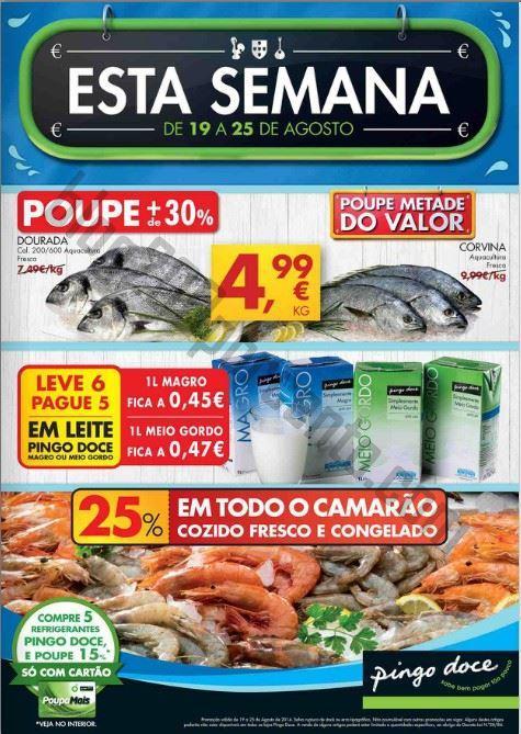 Antevisão Folheto PINGO DOCE Promoções de 19 a 25 agosto - online