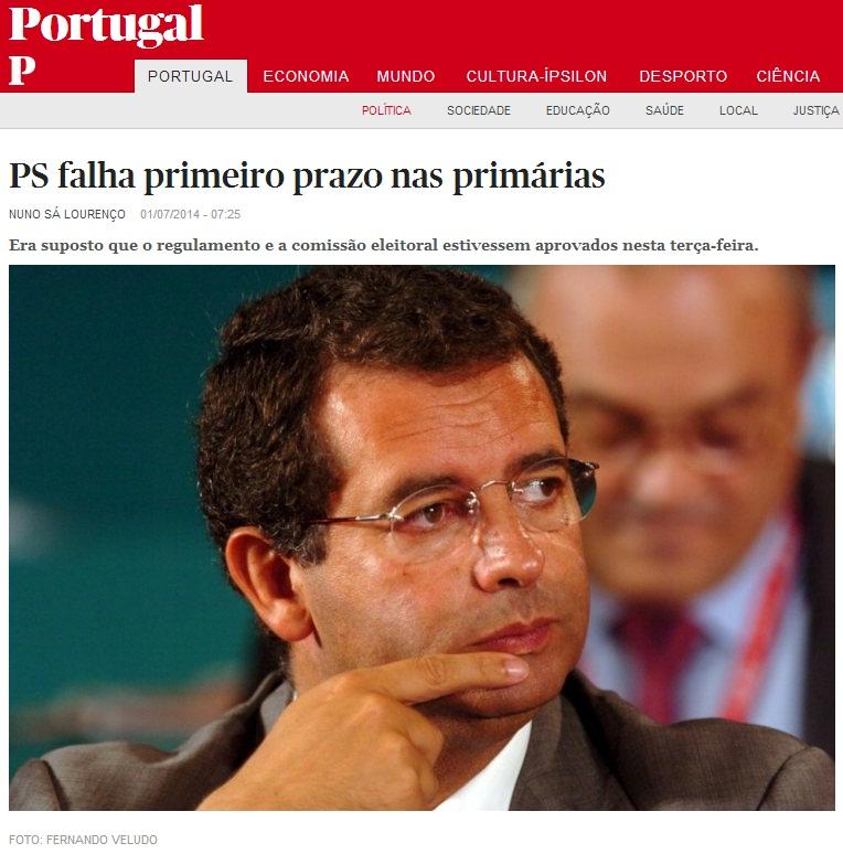 Eleições primárias no partido socialista PS José Seguro e António Costa Regulamento Comissão Política