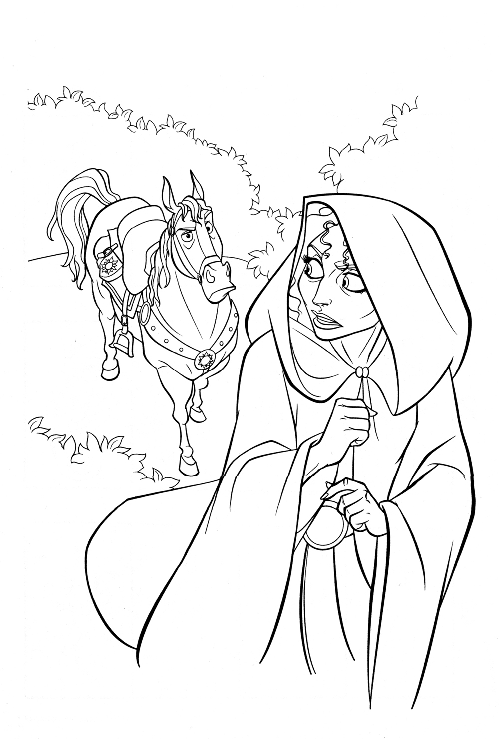 tangled coloring pages maximus ticket - photo#15