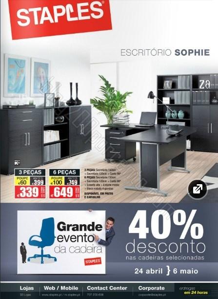 Novo folheto | STAPLES | Mobiliário de 24 abril a 6 maio