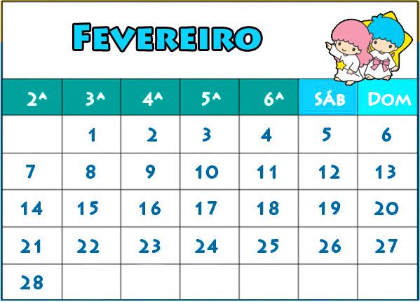 calendario 2011 para imprimir. Calendario Fevereiro 2011 para
