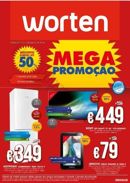 Novo Folheto WORTEN de 2 a 15 julho - Mega Promoção