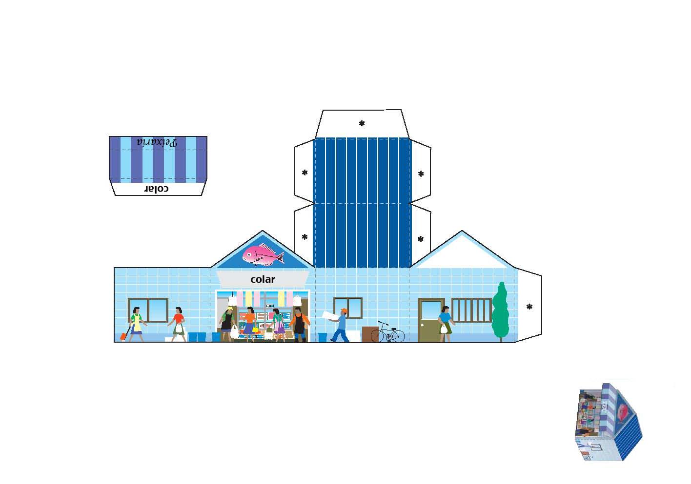 Casas De Papel Para Montar E Imprimir Imagui