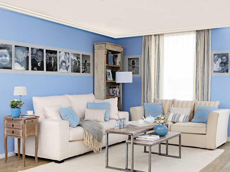 Sala Pequena Na Cor Azul ~ Salas bem decoradas  Decoração e Ideias